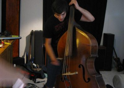 Acoustic-Stand-Up-Bass-Being-Recorded