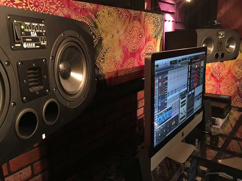 New Adam Studio Monitors In Control Room A - Green Bluff, Washington
